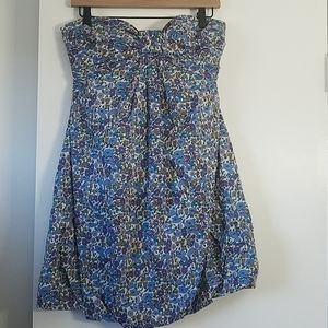 J. Crew Liberty SpringLilly Floral Strapless Dress